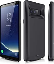 JUBOTY Galaxy Note 8 Battery Case, 5500mAh External Fast Charging Backup Portable Power for Samsung Galaxy Note 8 Protective Charging Case(Black)