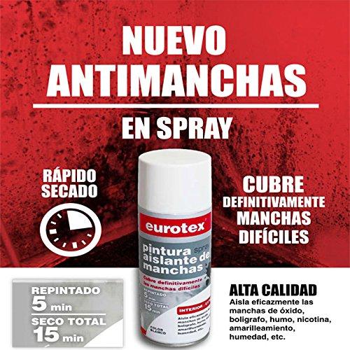 Pintura en spray aislante antimanchas blanco mate Ideal para tapar manchas de óxido, bolígrafo, humo, amarillamiento, nicotina, humedad etc. - 400 ml -