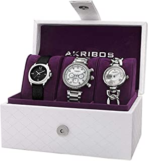 Akribos XXIV Women's 3 Watch Gift Set - AK741SS