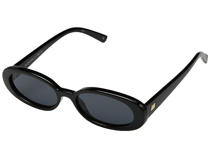 Le Specs Outta Love (Black/Smoke Mono) Fashion Sunglasses
