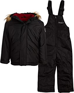 DKNY Boys 2-Piece Puffer Ski Jacket and Insulated Snowbib Snowsuit Set (Infant/Toddler)