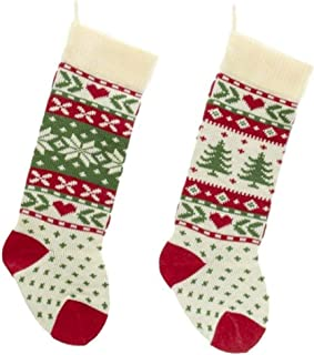 Kurt Adler 7 Red and White Monogram O Mini Christmas Stocking