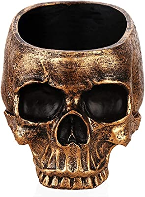 Skull Planter Plant Flower Pot Head Gifts Christmas Potted Small Succulent Pots Decor Bowl Mini Version Resin Home Gardening Special Creative Decorations Outdoor Halloween Plants Party