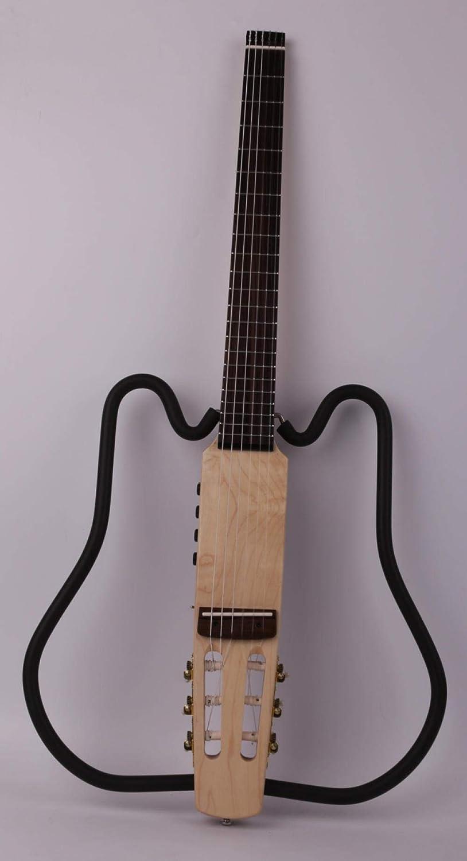 Guitarra Nylon String Sin Cabeza Clásica Clásica Silenciosa Guitarra Eléctrica Incorporada En Efectos De Viaje Portátil Plegable Plegable Guitarra Plegable Guitarra acustica Hyococ (Color : A)