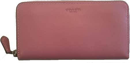 Coach 1941 GloveTanned Leather zip around Accordion Wallet In Primrose