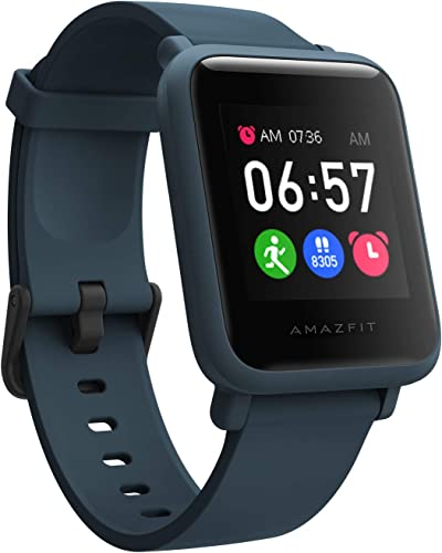 Amazfit Bip S Lite Smart Watch 30 Days Battery Life 150 Watch Faces Always On Display 30G Lightweight 5 ATM Water Resistance 8 Sports Modes Oxford Blue