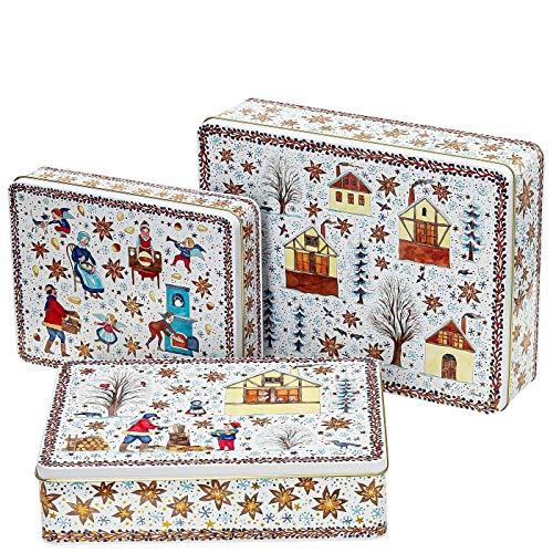 Hutschenreuther 02463-727321-05583 Weihnachtsbäckerei Plätzchendosen Set 3-TLG. (1 Set)