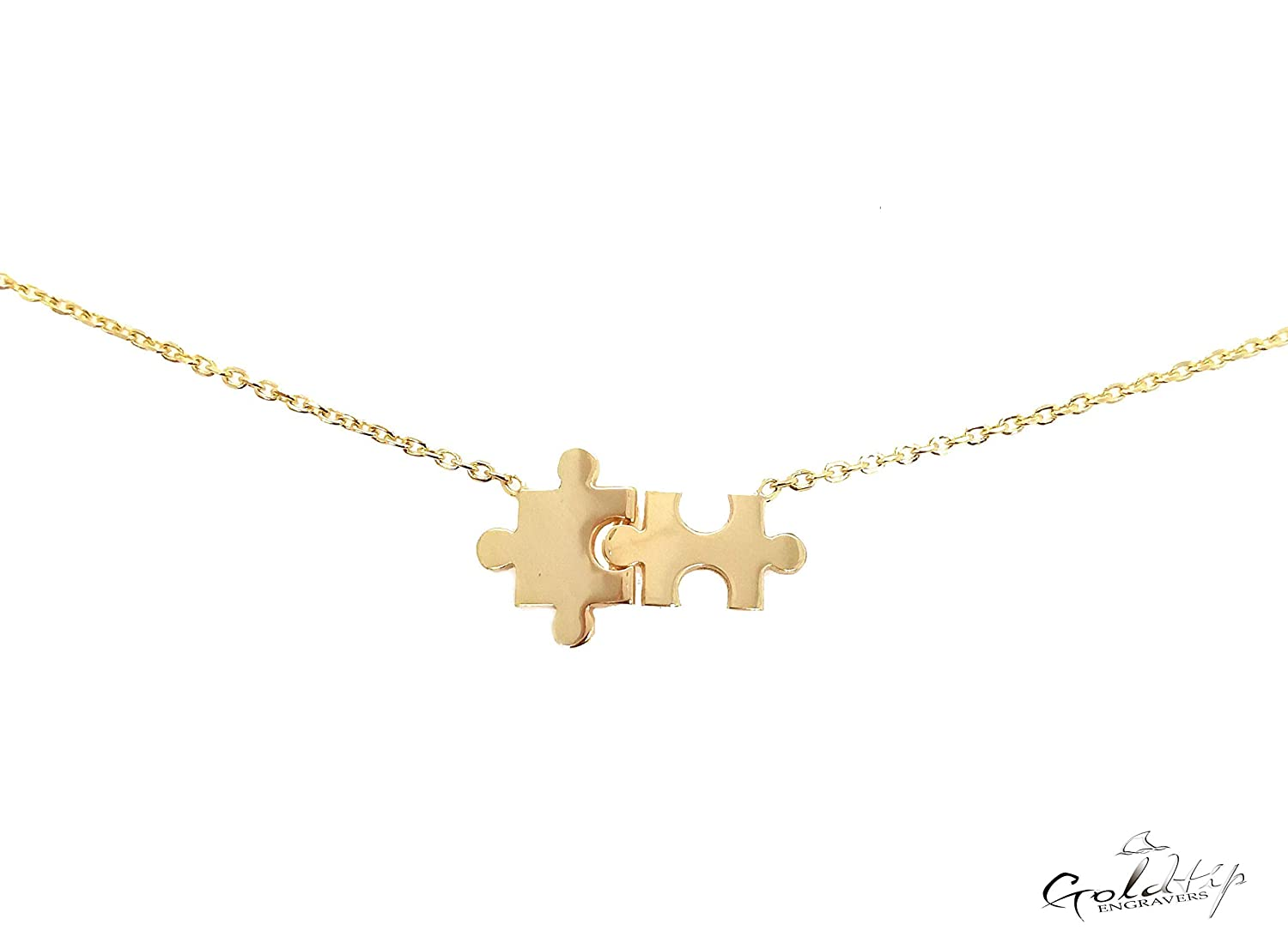Puzzle Year-end Max 47% OFF annual account Pieces Necklace Dainty