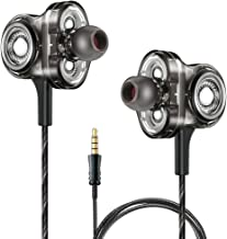 Triple Driver Earbuds,Wired Earphones,6D Sound Effect Deep Bass Stereo Earbuds in Ear Headphones with Microphones,Noise Isolating,Volume Control,Headset for Smart Phones,PC (Triple Driver Earbuds)