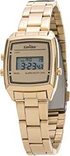 Relógio Condor, Pulseira de Aço, Feminino, Dourado