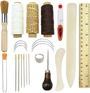 Kits d'outils de reliure,23pcs Premium outils de couture pour cuir,faite à la main et livres de papier DIY Bookblind Ensem...