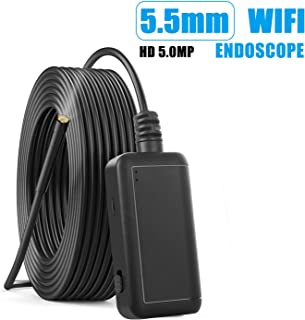 Accreate 500w HD WiFi Endoscope Camera 1920P Flexible IP67 Waterproof Inspection 6LEDs Adjustable Borescope Camera 2 Meters Hard line
