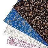 HNMY Papel de Envoltura de Regalo 50x70cm Regalo Gilding Floral Wapping Paper Roll for niños Kids Cumpleaños Vacaciones Wrap Draft Papel de artesanía (Color : Creamy White)