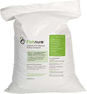 Sponsored Ad - 32 Pound Fish Manure Organic Living Humus Compost Soil Conditioning Fertilizer with Pleasant Fresh Soil Odo...