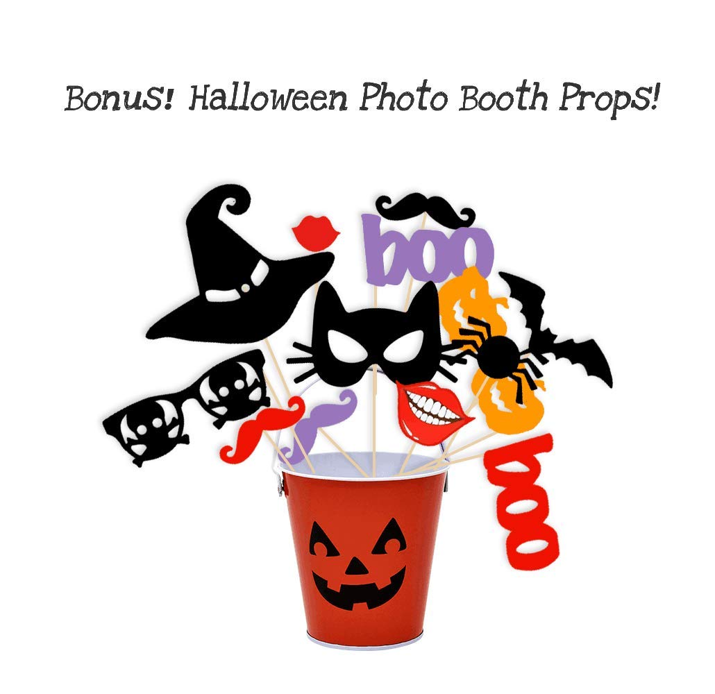 Kate 10x6.5ft Photography Backdrop for Halloween Horror Night Backdrop for Halloween Microfiber Party Background for Children Kids