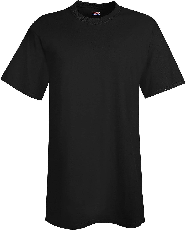 Hanes Men's Tall Short Sleeve Beefy-T (Pack of 2), 3XLT, 1 Black / 1 Navy