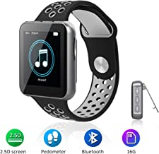 $35 Get MP3 Player with Bluetooth for Running, 16GB Clip Music Player Watch with FM Radio, Voice Recorder, Pedometer, Support up to 128GB
