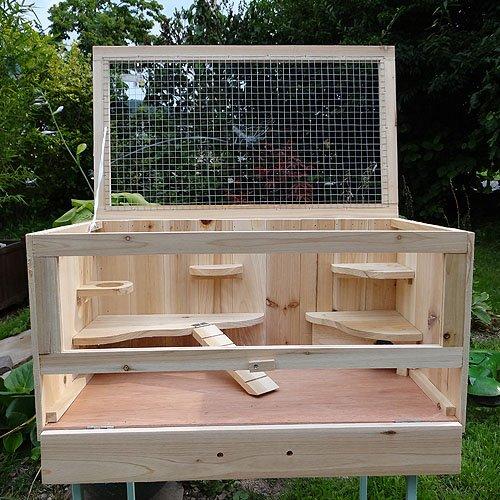 Melko Kleintierkäfig mit klappbarem Deckel, für kleine Nagetiere, 60 x 35 x 30 cm, Nagervilla Hamsterkäfig Mäusekäfig