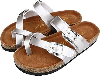 〓COOlCCI〓Womens Comfy Platform Open Toe Summer Beach Travel Summer Flat Sandals Slippers Flip-Flops