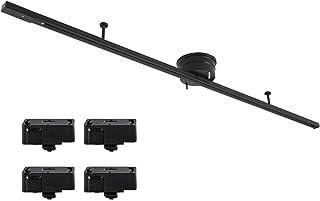 共同照明 変換プラグ4個付き 配線ダクトレール 1.5m ライティング ダクトレール 黒 GT-DJ-1.5GDB-ZB ライティングバー ダクトレール用プラグ4個入り 引掛シーリング レール 天井照明 簡易取付 レールライト用 レール照明