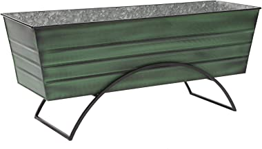 Achla Designs VFB-06-S Odette Large Green Flower Window Box with Stand