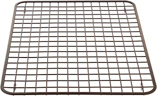 iDesign Gia Large Sink Protector Open Grid Strainer for Kitchen Sinks, Counter Tops, Dishes, Glasses, Stemware, Pots, and Pans - Bronze Steel, 16.25