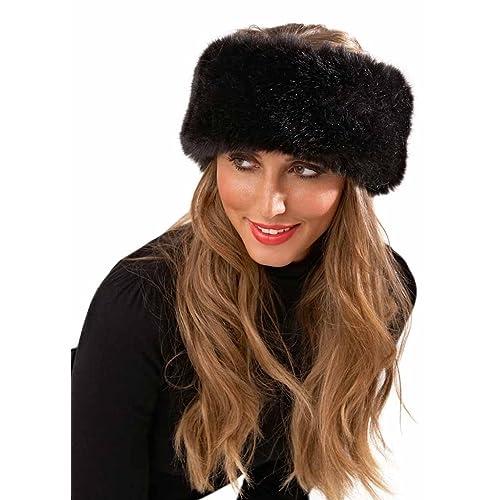 Lora Dora Luxury Faux Fur Headband d741f3ed198