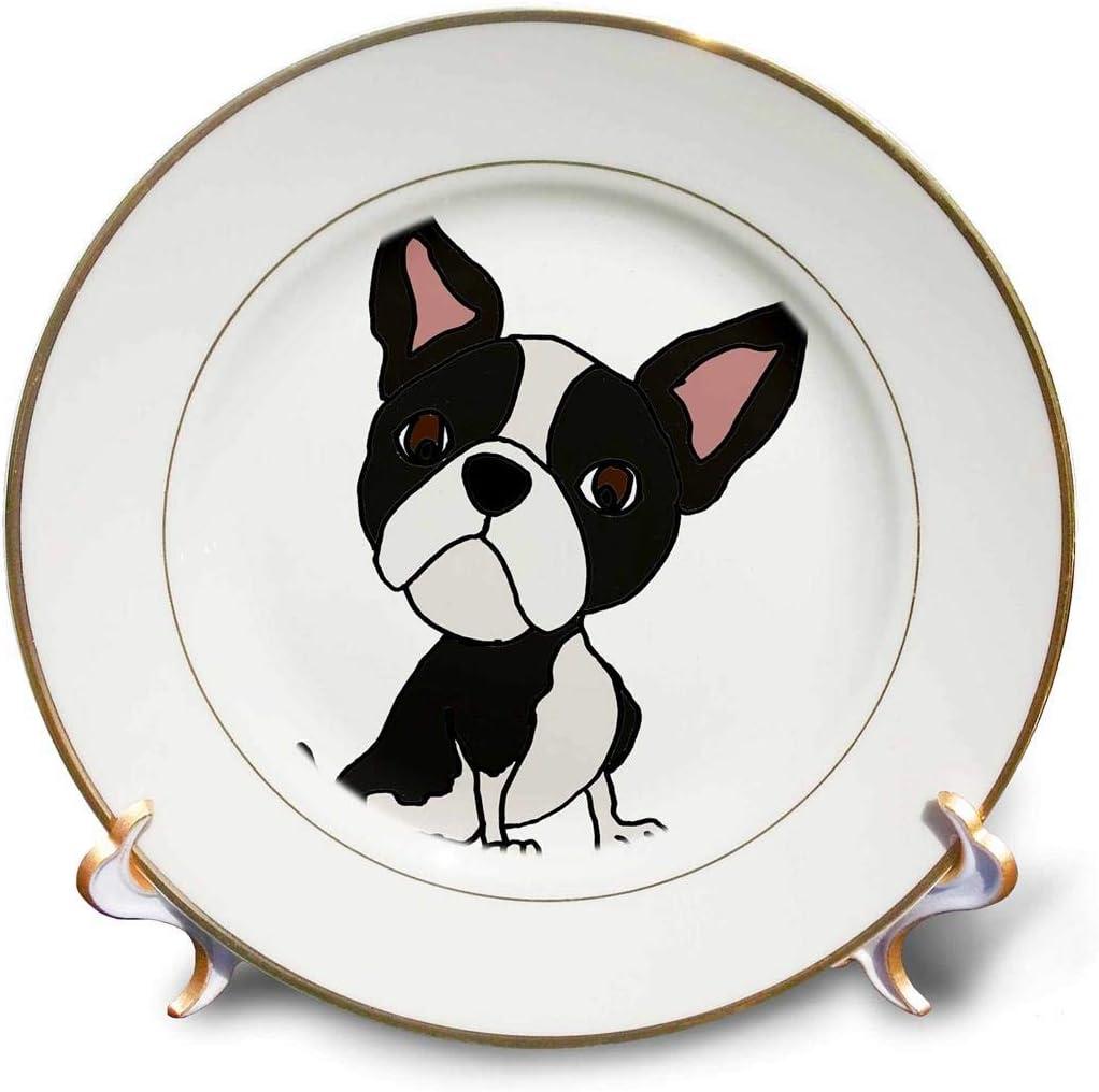 3dRose Funny Cute Boston Terrier Ranking TOP11 Dog Department store Porcelain Puppy Art Cartoon