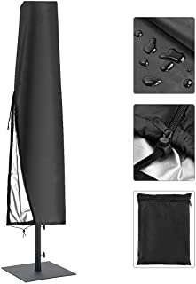 skyfiree Patio Umbrella Cover Waterproof Outdoor Parasol Cover 420D Oxford Fabric Offset Cantilever Cover with Zipper for ...