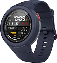 Amazfit Verge Smartwatch by Huami with GPS+ GLONASS All-Day Heart Rate and Activity Tracking, Sleep Monitoring, 5-Day Battery Life, Bluetooth, IPX68 Waterproof, US Service and Warranty - A1811 Blue