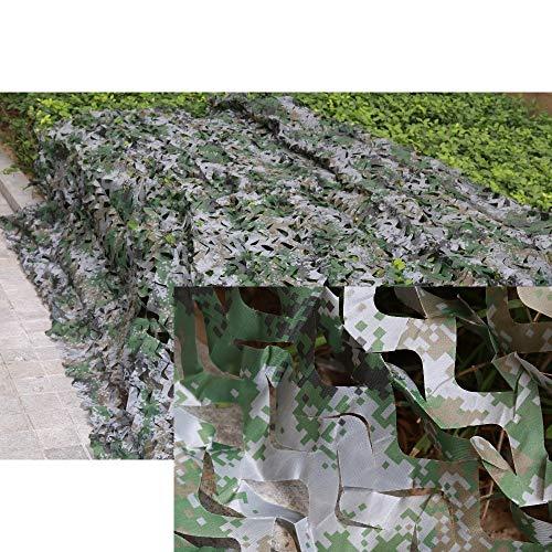 LSB-Hunting® Filet de camouflage unisexe à couche unique pour la chasse, le camping, les forêts, les feuilles de la jungle pour voiture militaire, flexible (couleur : vert)