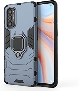 DOHUI Case for Oppo Reno4 Pro 5G, [Shock Absorption] 2 in 1 Hybrid Armor Hard Back Case Cover with Kickstand for Oppo Reno...