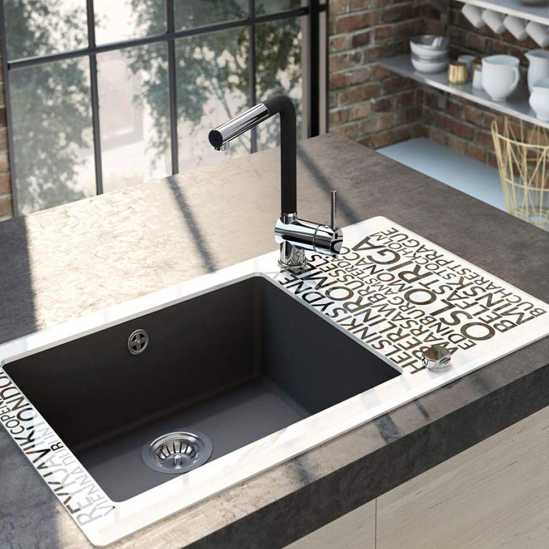 Designer Aster Kitchen Tap with Extendible Spout Chrome Black L Spout Sink Mixer Tap Single Lever Mixer Tap High Pressure Kitchen Tap