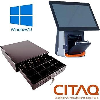 Pack Citaq TPV táctil Completo + cajón + Impresora 80mm + Windows 10: Amazon.es: Informática