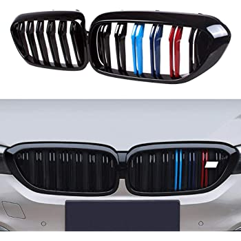 Gloss Black Double Line Front Hood Kidney ABS Plastic Grille For BMW 5 Series G30 G38 4 Doors 2017-2019 G30 G38 Grille