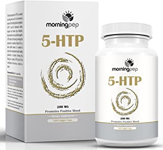 5-HTP Supplement 120 Count 200 mg per Caps with Added Vitamin B6 by Morning Pep, 5 HTP is A Natural Appetite Suppressant T...