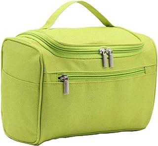 Portable Cosmetic Bag, Waterproof Travel Hanging Toiletry Bag, Large Capacity Organizer Bag for Women Girls, Shower Bags for men (green)