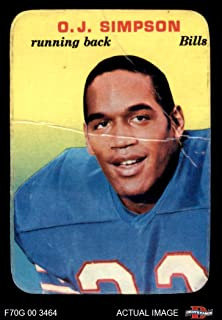 1970 Topps Super Glossy # 22 O.J. Simpson Buffalo Bills (Football Card) Dean's Cards 1.5 - FAIR Bills