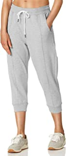 SPECIALMAGIC Women's Capri Sweatpants Cropped Joggers for Women Workout Active Sports with Pockets Light Grey S