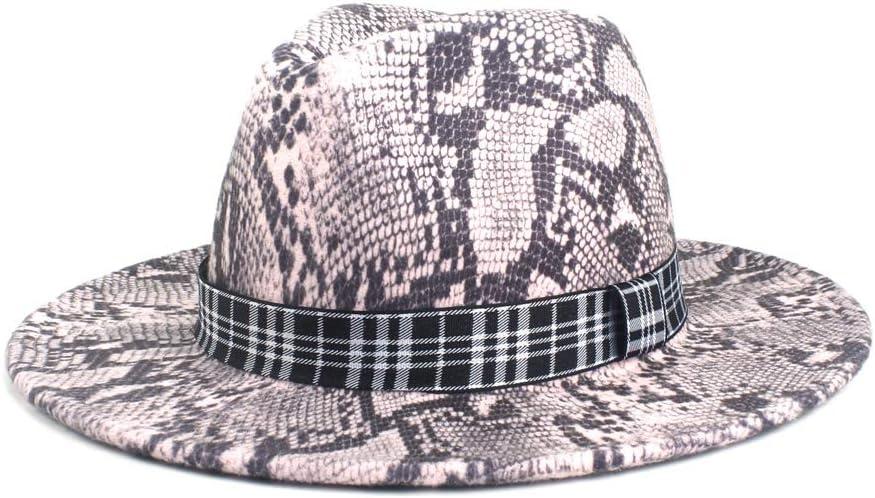 liyuzhu Men Women Fedora Hat Fashion Autumn Winter Striped Cloth Church Hat Floppy Jazz Panama Carnival Fascinator Hat (Color : 4, Size : 56-58cm)