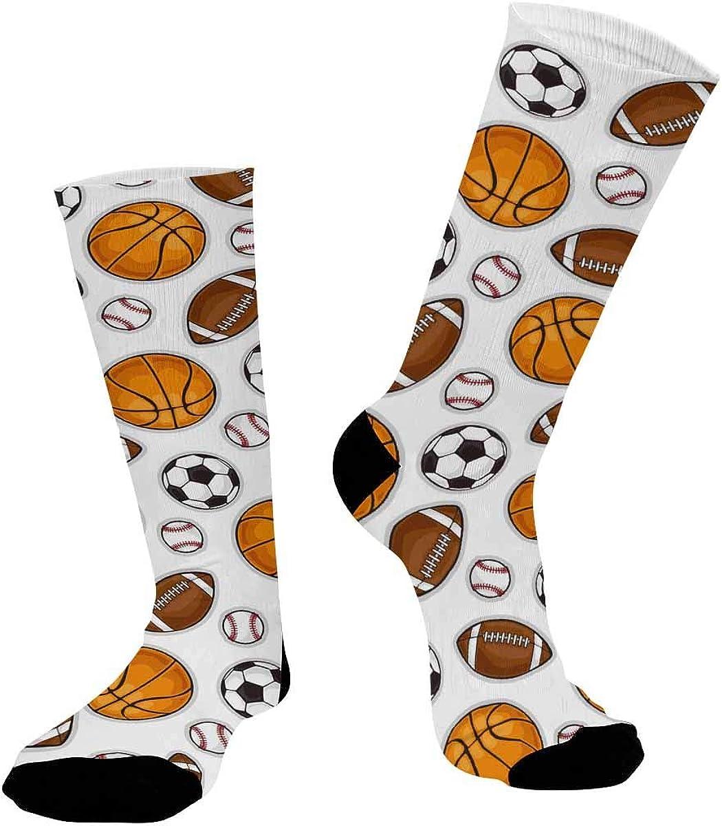 INTERESTPRINT Sublimated Hiking Dress Athletic Crew Socks Sporting Equipment Pattern