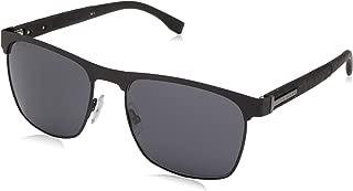 Men's Boss 0984/s Square Sunglasses, Matte Black, 57 mm