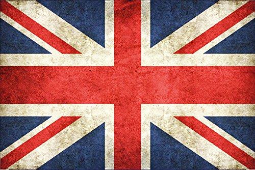 Schatzmix Länder Fahne -UK United Kingdom, GB Great Britain- National Flagge Vereinigtes Königreich, Großbritannien blechschild, dekoschild, Retro