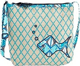 Vera Bradley Beach Crossbody Go Fish Blue