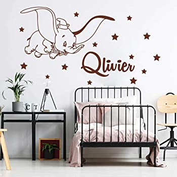 Design with Vinyl Dumbo Flying Elephant Disneyland Cartoon Cartoon TV Show Personnage Baby Nursery Kids Kids Kids Sticker Mural en Vinyle D/écoration Murale pour Chambre denfant 38,1 x 50,8 cm