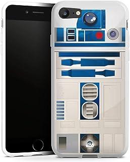 Siliconen Hoesje compatibel met Apple iPhone SE (2020) TPU Case Wit Telefoonhoesje Star Wars r2d2 Fanartikel