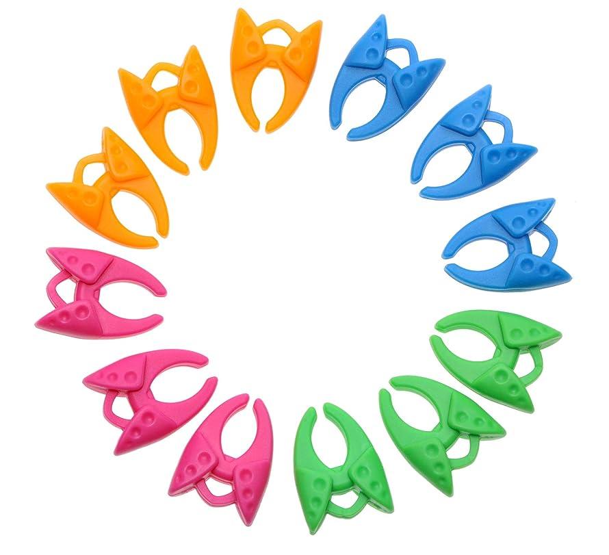 Mini Skater Bobbin Clamps Holders Colorful Silicone Reusable Keeping Bobbin Thread Tails Under Control for Bobbin Random Color