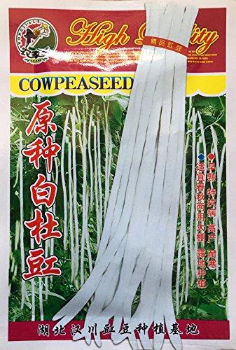Livraison gratuite 1 emballage d'origine 15g rares légumes longues graines de niébé blanc, longueur de haricots graines de légumes 70-80cm Livraison gratuite