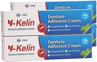 Y-Kelin Crema adhesiva para dentaduras postizas 40gr /1.4oz (4 PACK)