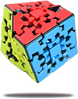 Gear Cube 3x3 Sticker-Less Smooth and Silent, and Design, Perfect Puzzle for Everybody